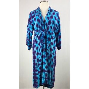 LAST CAHANCE✅Tie-dyed blue purple robe with tie